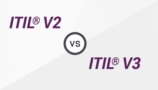 Difference between ITIL®  V2 and ITIL®  V3 Image